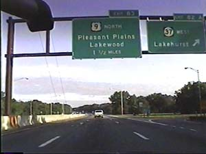This is the Garden State Parkway, NJ 444 south, just south of exit 142(I-78, Springfield, Newark International Airport) in Hillside, going through one of ...