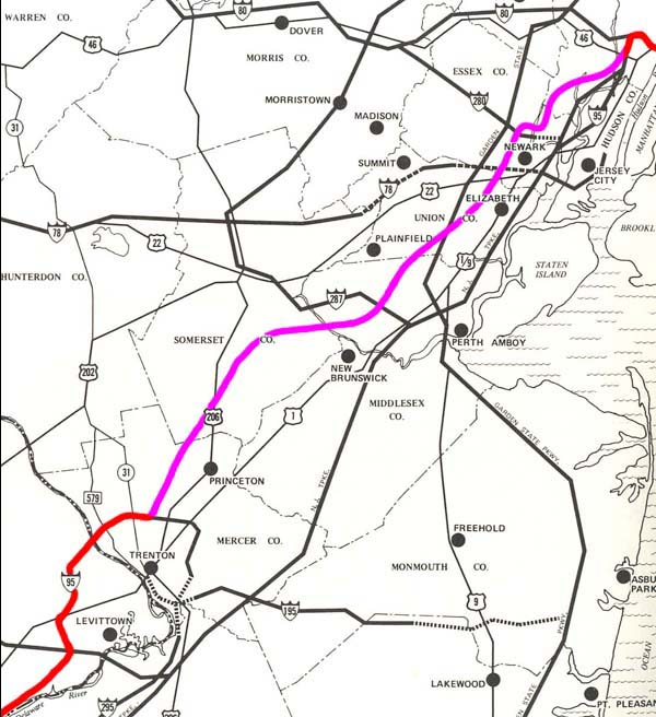 Map 1: I-95 Corridor Shifts, 1954 - 1982 I Map on interstate 495 map, us interstate highway system, i-355 map, new jersey turnpike, interstate 25 map, i-64 map, interstate 93 map, richmond hill ga map, i-90 map, interstate 81 map, i-294 map, interstate 91 map, pennsylvania turnpike, i-40 map, i-81 map, i-69 map, interstate 10 map, u.s. route 66, i-5 map, interstate 75 map, interstate 77 map, garden state parkway map, i-77 map, i-55 map, u.s. route 1,