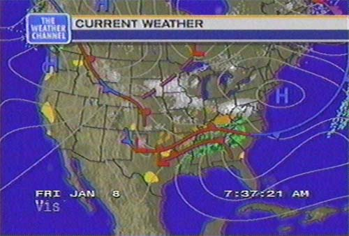 snow and ice storm  january 8-9  1999