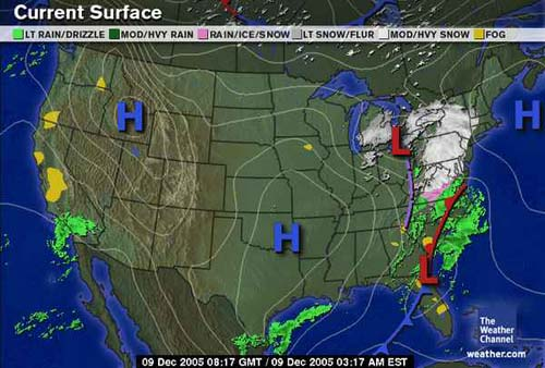 Snow And Ice Storm December Surface Maps - Us fronts map before ice storm