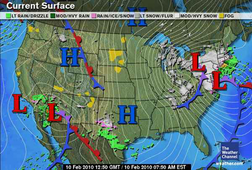 Snow Storm February  Surface Maps
